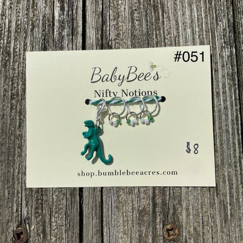 BabyBee's,Nifty,Notions,Set,#051,Green,Dinosaur!