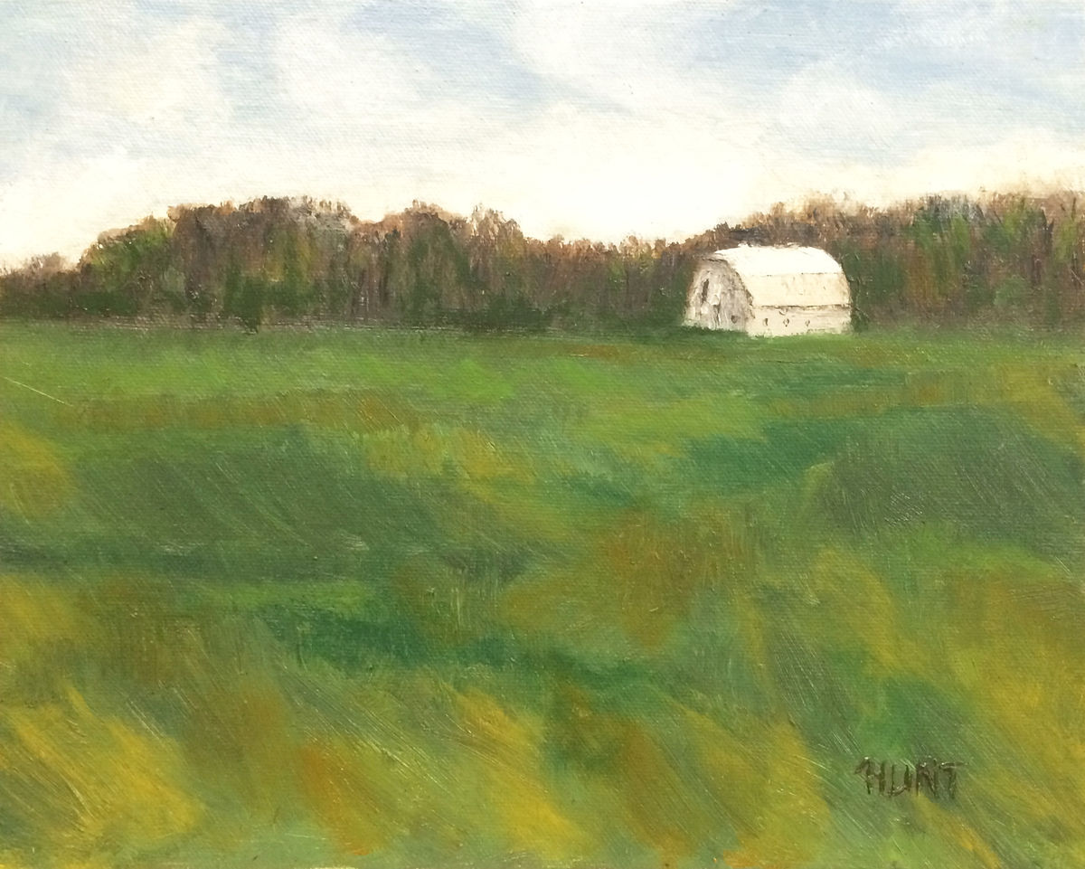 """Lanscape Farm Field Original Oil Painting on Canvas, """"Winter Wheat ... for Wheat Farm Painting  143gtk"""