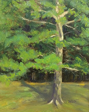 Landscape Tree Original Oil Painting on Canvas,