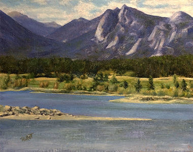 Landscape,Mountains,River,Original,Oil,Painting,on,Canvas,,Estes,Park,landscape, mountainscape, green, blue, tan, purple, diane hunt studio, mountains, nature, fields, trees, art, painting, oil painting, original, alla prima