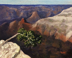 Landscape,Grand,Canyon,Original,Oil,Painting,on,Canvas,,Grand,oil painting, landscape, grand canyon, orange, purple, green, tree, oil painting, painting, art, alla prima