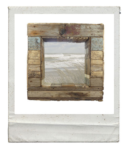 Patchwork,Driftwood,Mirror,patchwork,box mirror,square,deep,handmade