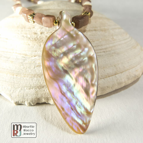Mother,of,Pearl,tear,drop,pendant,necklace,purple,aventurine,Mother of Pearl tear drop pendant necklace purple aventurine
