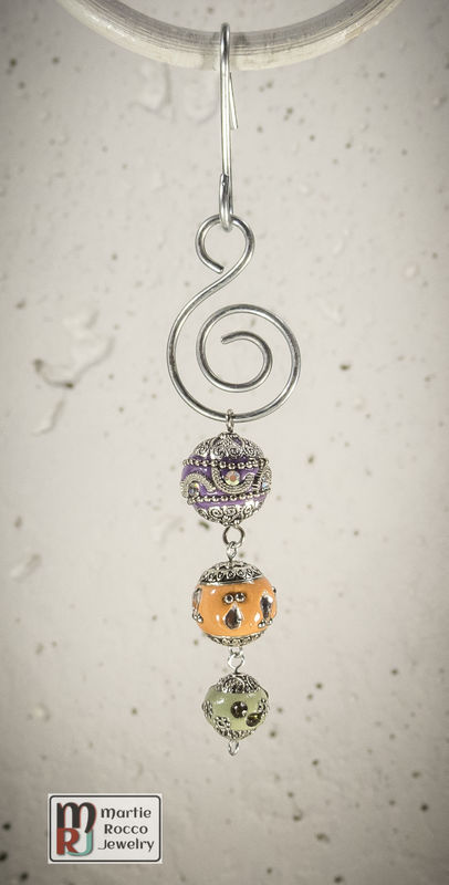 Purple, Orange and Green Holiday Ornament - product images