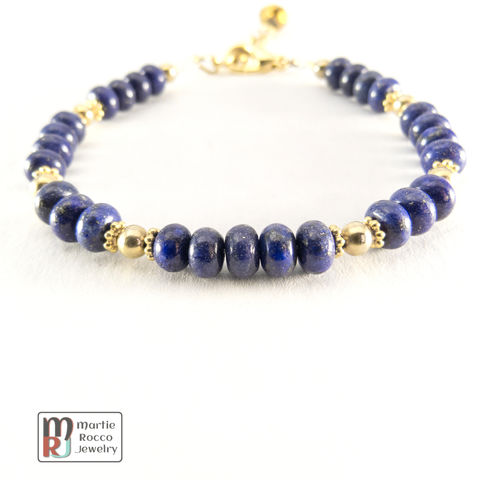 Lapis,Lazuli,bracelet,with,vermeil,and,gold,filled,beads