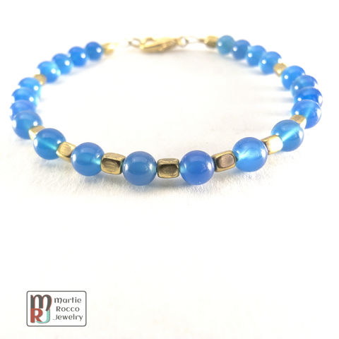 Blue,Onyx,and,brass,bracelet