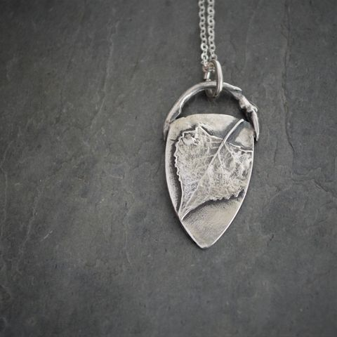 Cottonwood,Leaf,and,Twig,Necklace,,Fine,Silver,Pendant,Cottonwood leaf pendant, cottonwood tree necklace, cottonwood twig necklace, fine silver necklace, sterling silver chain necklace, cottonwood tree jewelry, gayle dowell, nature necklace, botanical pendant, tree jewelry, artisan necklace, handmade in the U
