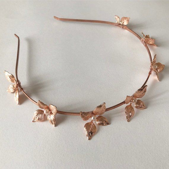 LILLEY  UK - Rose Gold Wedding Hair Band - product images  of