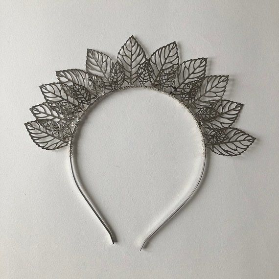 LILLEY  UK - Silver Leaf Hair Band - product image