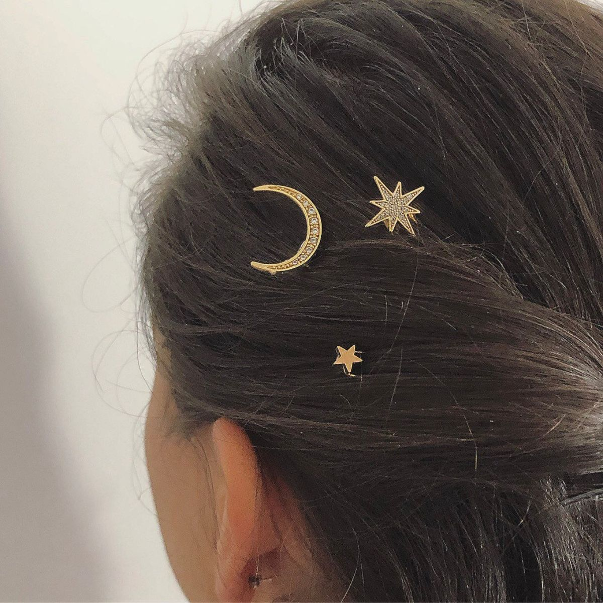 LILLEY  UK - STAR MOON HAIR PINS - product image