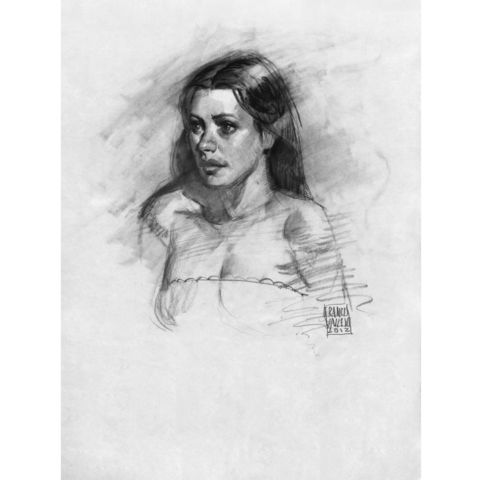Brittany,3,|,Original,Drawing,-,SOLD