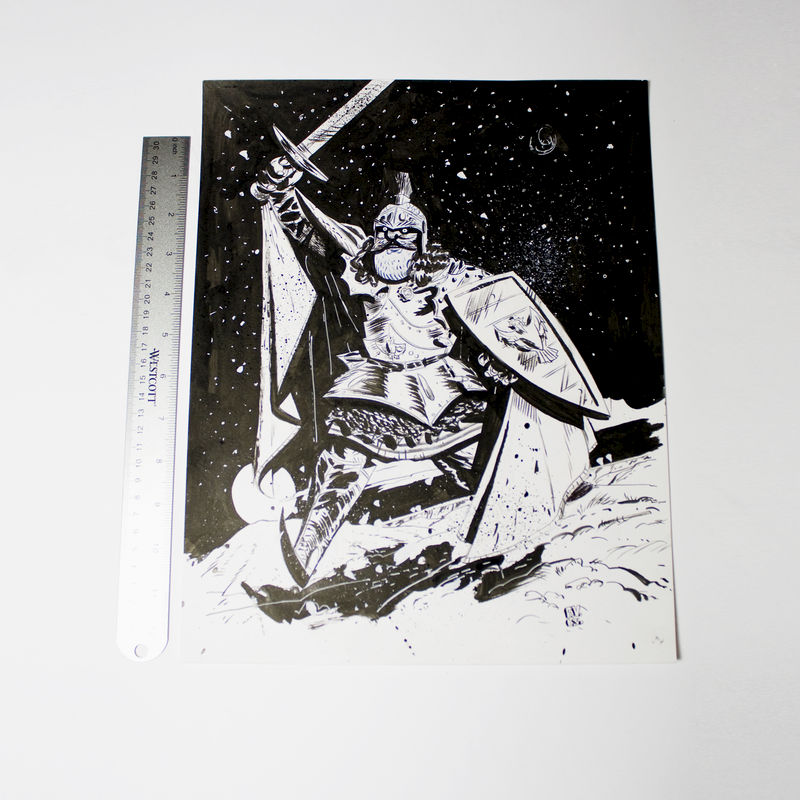 Rabies Santa Knight | Original Drawing - SOLD - product images  of