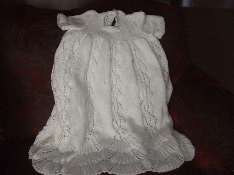Knit Pattern For A 3 Piece Christening Outfit Set - product images  of