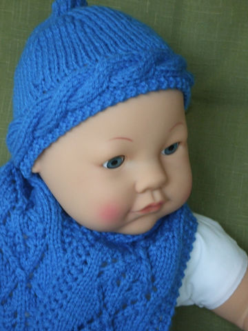 Pattern,for,Babies,Cabled,Ski,Cap,&,Lacey,Scarf,Patterns,Knitting,Baby,baby,knit,ski_cap,scarf,cable,open_work_lace