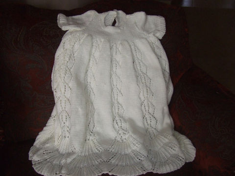 Pattern,for,Traditional,Hand,Knit,Christening,Gown,Patterns,Knitting,Baby,christening,gown,dress,traditional,pattern,knit