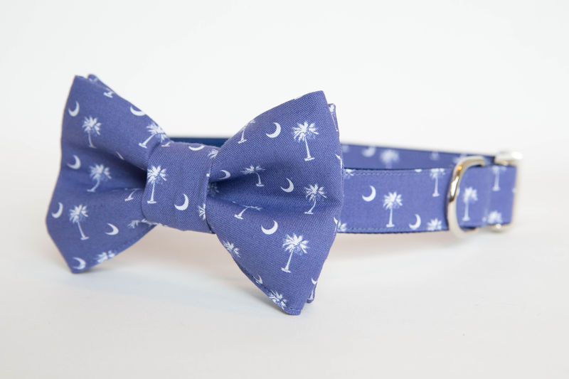 Dog Bowtie Collar - South Carolina Pride in Blue - product images  of
