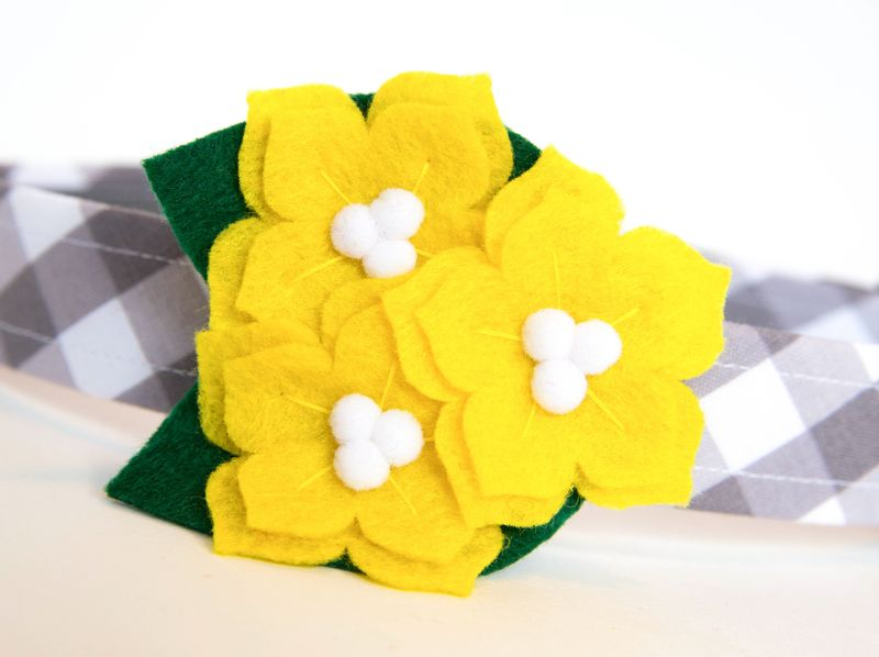 Flower Dog Collar -  Yellow Jessamine - product images  of