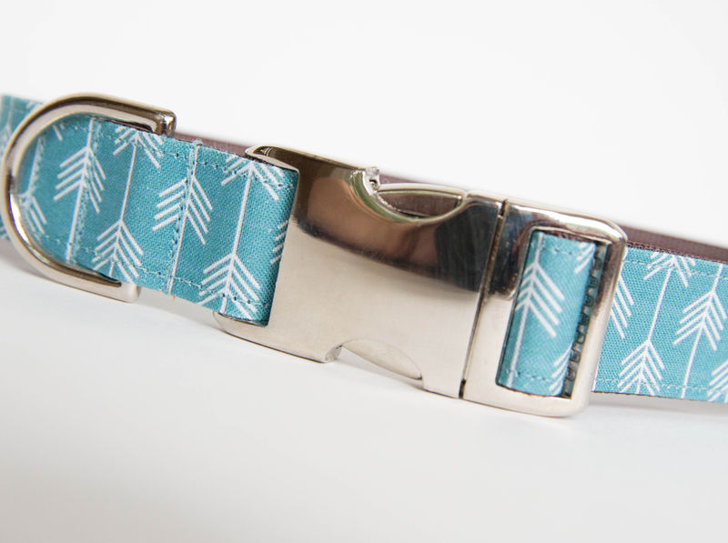 Camp Dog Collar - Blue/White - product images  of