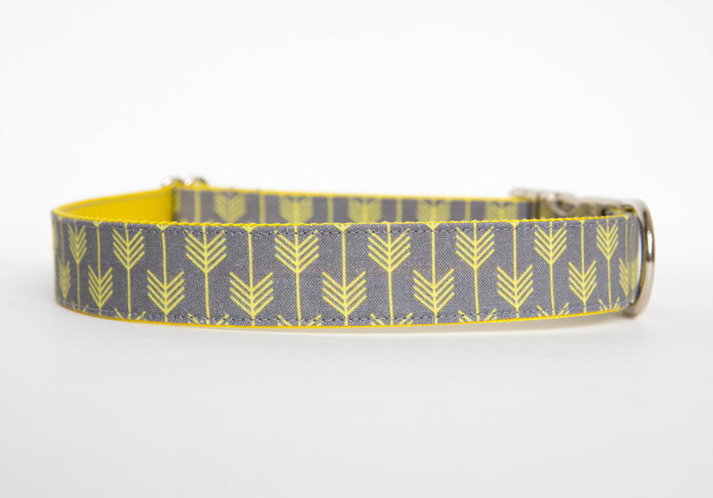 Camp Dog Collar - Grey/Yellow - product images  of