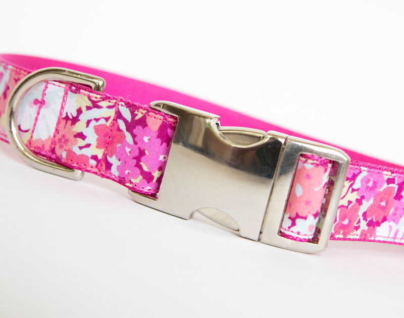 Liberty of London Dog Collar - Pink Floral - product images  of