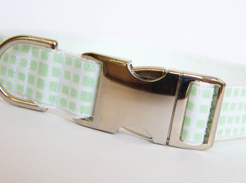Happy Racquet Dog Collar in Seafoam - product images  of