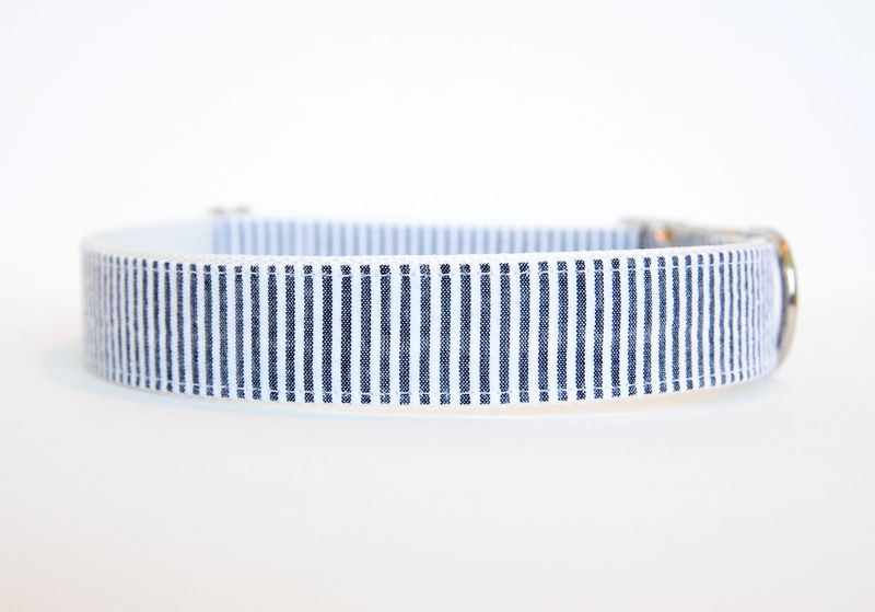 Seersucker Dog Collar - Black - product images  of