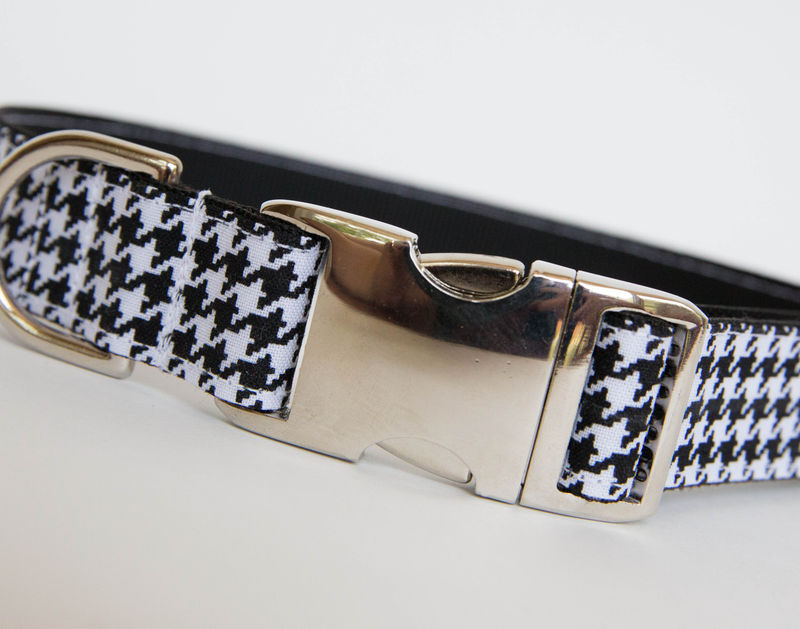 Black & White Houndstooth Dog Collar - product images  of