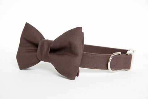 Dog,Bowtie,Collar,-,Espresso,Gentleman's,dog collar, dog bow tie, dog bowtie, bow tie dog collar, bowtie dog collar, wedding dog collar, fall dog collar, brown, chocolate, espresso