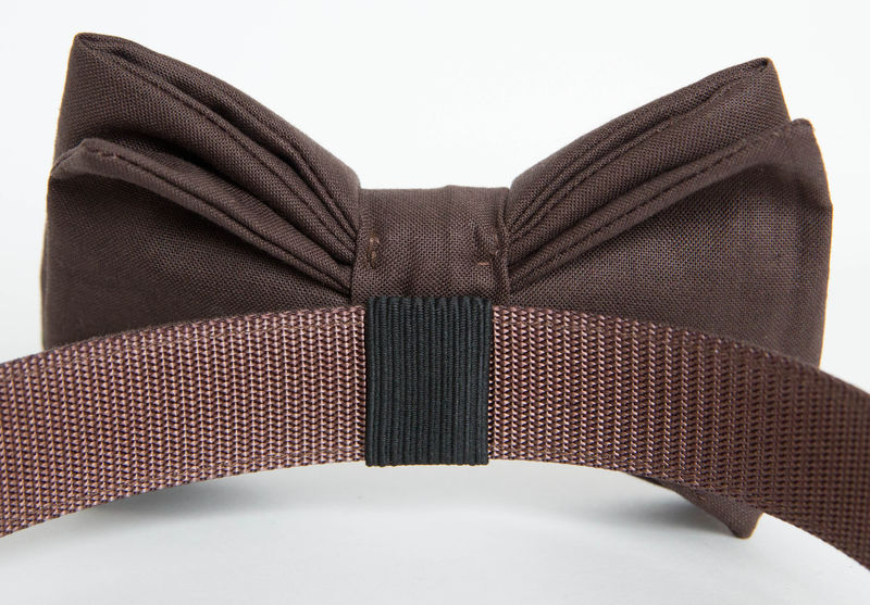 Dog Bowtie Collar - Espresso Gentleman's Collar - product images  of