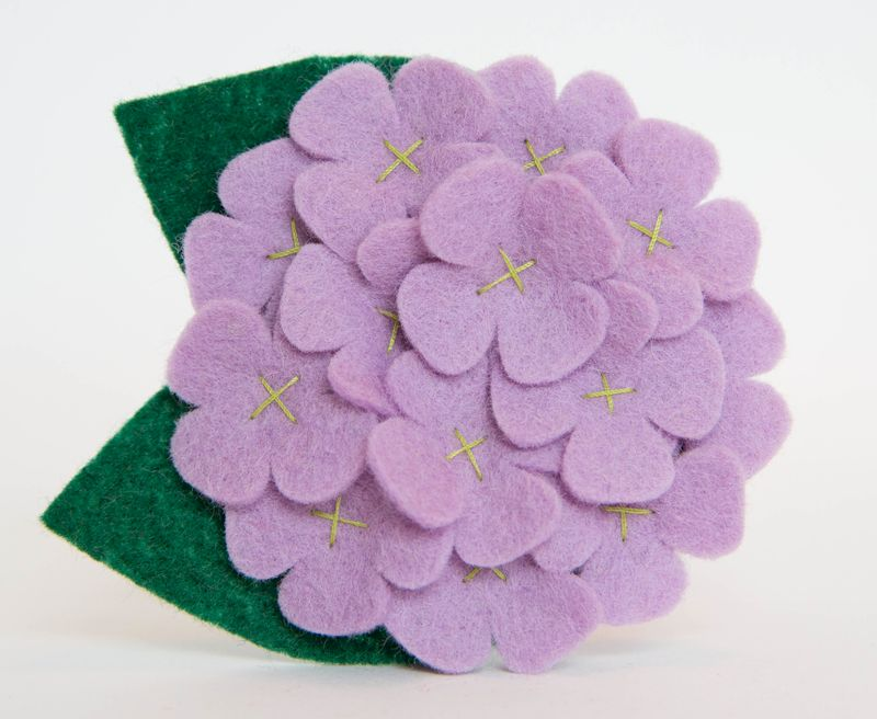 Flower for Dog Collar - Lavender Hydrangea - product images  of