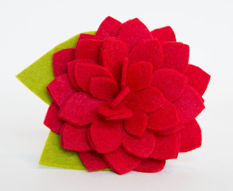 Dog Collar Flower - Red Dahlia - product images  of