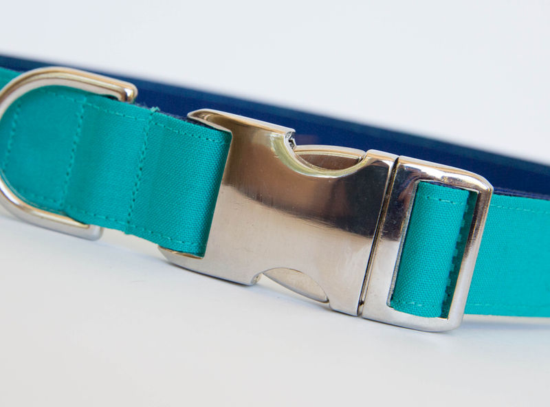 Teal Gentleman's Bowtie Dog Collar - product images  of