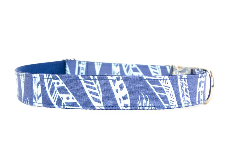 Feathered Fido Dog Collar in Blue - product images  of