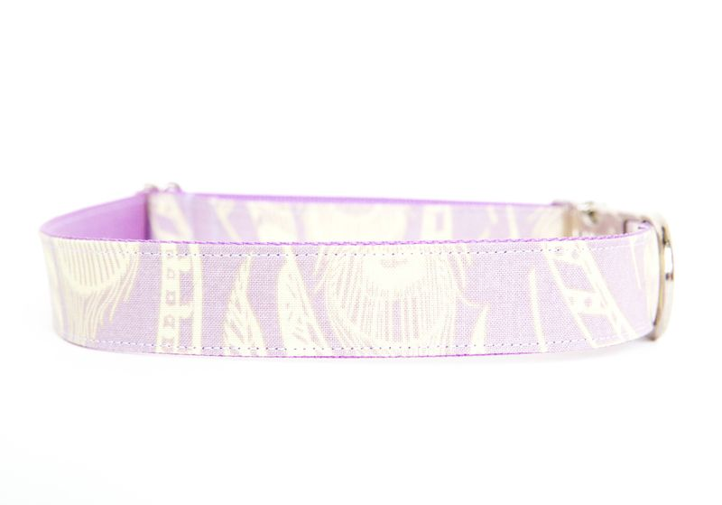 Feathered Fido Dog Collar in Lavender - product images  of
