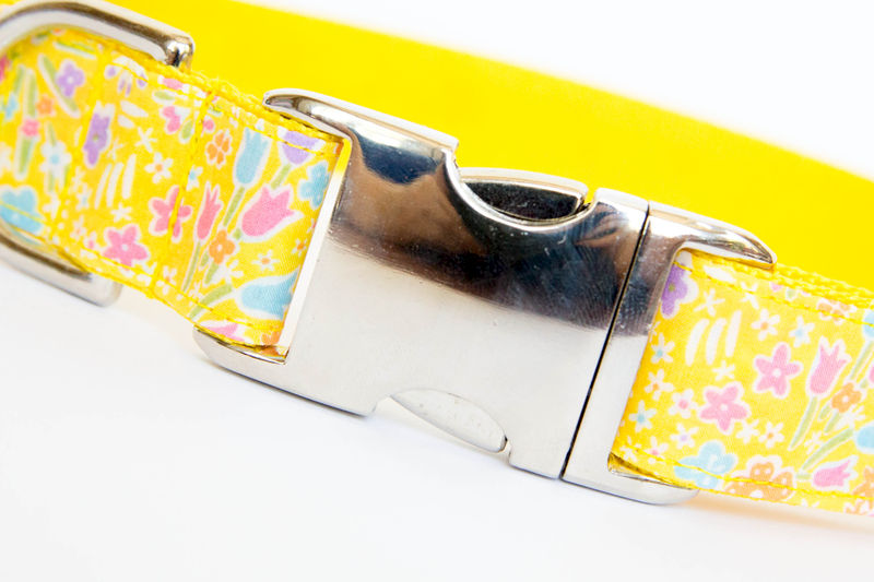 Liberty of London Dog Collar - Bright Yellow Flowers - product images  of