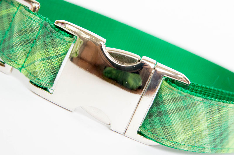 Dog Bow Tie Collar - Shamrock Plaid - product images  of