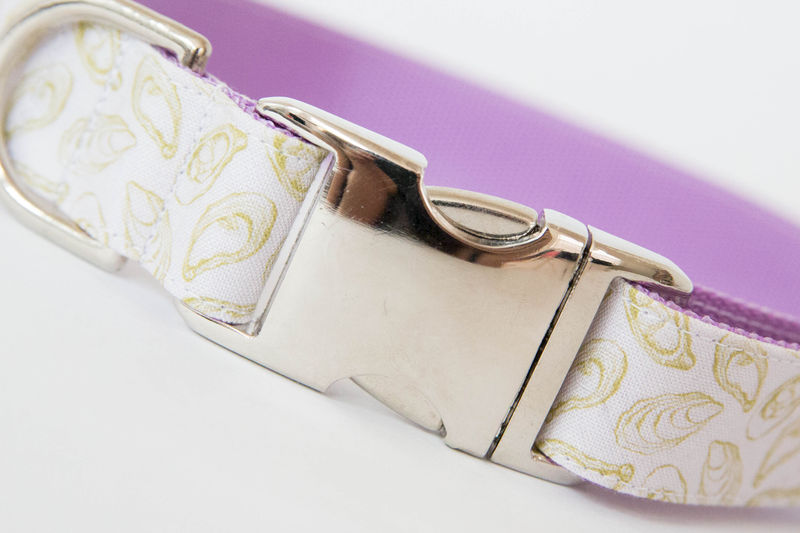 Oyster Roast Dog Collar in Pale Lavender - product images  of