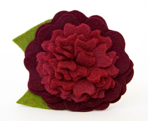 Dog,Collar,Flower,-,Burgundy,Blossom,flower for dog collar, dog collar flower, felt flower, dog collar, flower, wedding dog collar