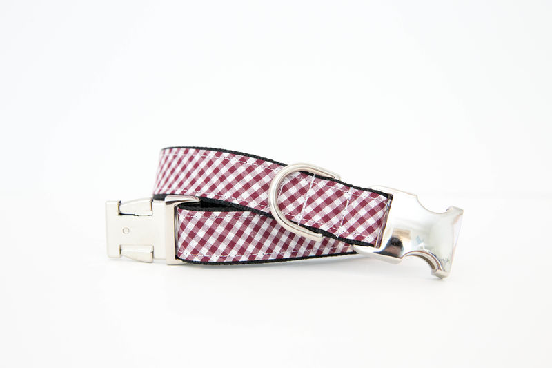 USC Gamecocks Gingham Bowtie Dog Collar - product images  of