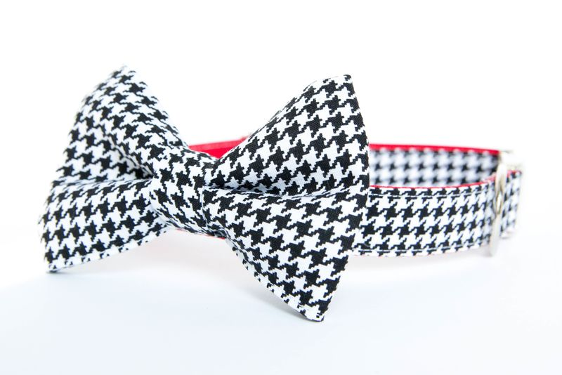 Alabama Houndstooth Bowtie Dog Collar - product images  of