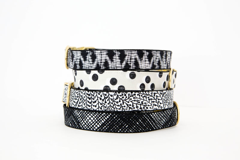 Black and White Polka Dot Dog Collar - product images  of
