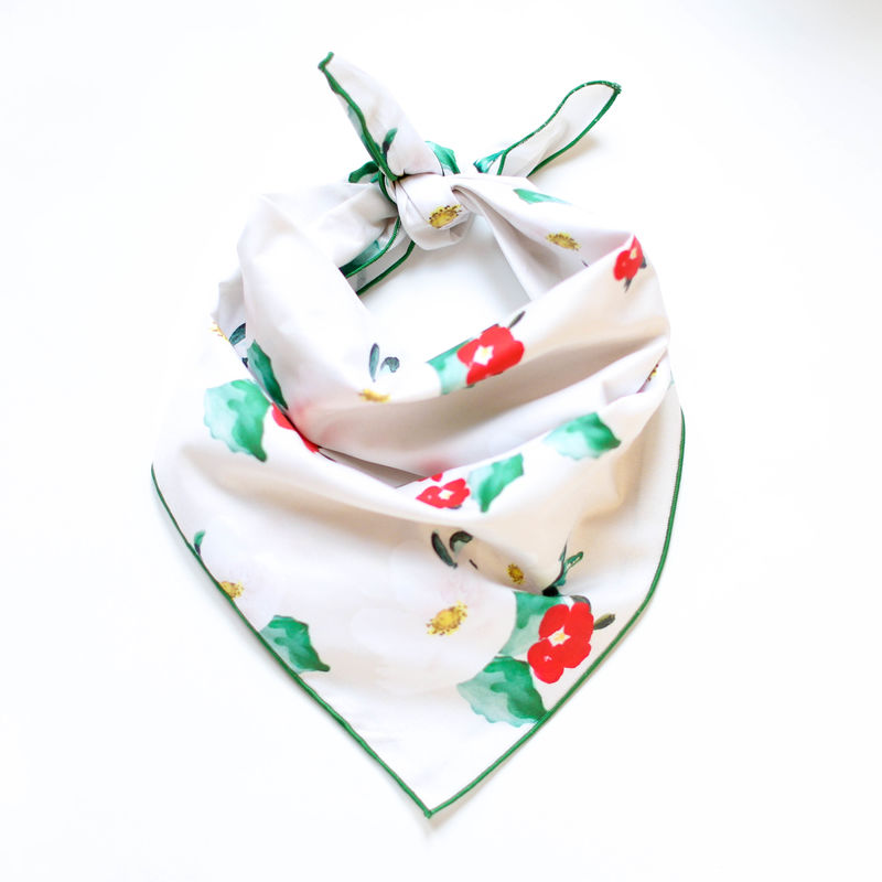 Holiday Magnolias Dog Bandana - product images  of