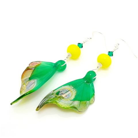 Jade,Green,Butterfly,Wing,Earrings,Handmade, Handcrafted, Butterfly, Butterfly Wings, Earrings, Jewelry, Glass, Lampwork Glass Earrings, Lampwork Jewelry, Butterfly Earrings, Butterfly Jewelry, Glass Art, Nature Inspired, Beadz and More, Bead Jewelry