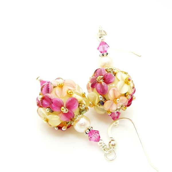 Pink Floral Earrings - product images  of