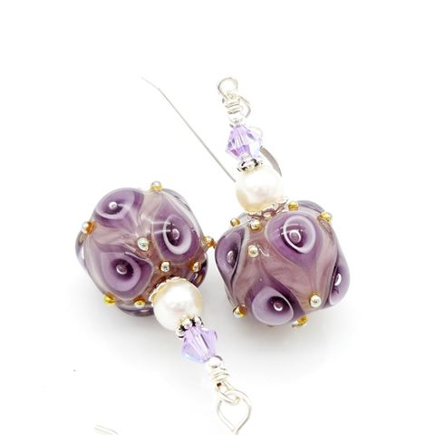 Purple,Earrings
