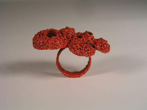 Ring,from,Entangled,collection,copper wire, colored wire, wire, treated wire, color, high fashion jewelry, unique piece, modern jewelry, handmade