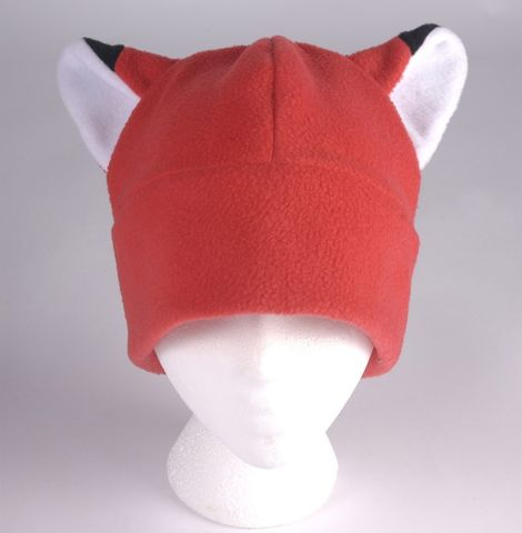 Fox,Ear,Hat,-,Red,Fleece,Accessories,Animal,beanie,red,fox,men,women,kitsune,tfteam,cosplay,fox_hat,fox_ear_hat,anime_hat,winter_hat,Halloween_hat,fleece