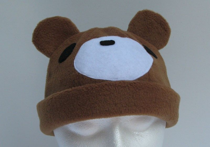 Caramel Brown Teddy Bear Fleece Hat - product image
