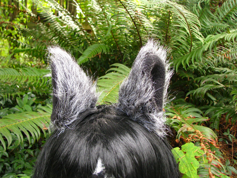 Animal Ear Clips - Black and White Cosplay Hair Clips - product image