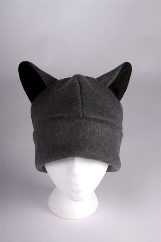 Wolf,Hat,-,Mens,Womens,Teen,Gray,Fleece,Ears,Accessories,Animal,black,wolf,men,women,twilight,cosplay,beanie,gray,grey,wolf_hat,wolf_ear,anime_hat,fun_hat,fleece